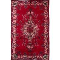 ecarpetgallery Hand-knotted Melis Vintage Red Wool Rug (5'9 x 9'2)