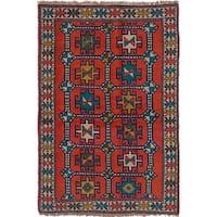 ecarpetgallery Brown Wool Hand-knotted Guchan Rug (4'0 x 6'0)