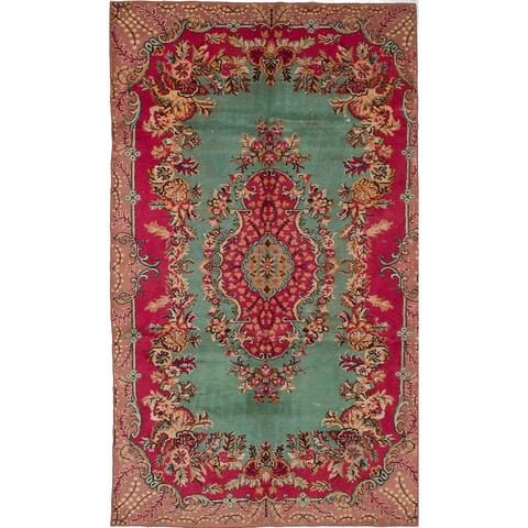 eCarpetGallery Hand-knotted Antalya Vintage Red Wool Rug (6'0 x 10'5)