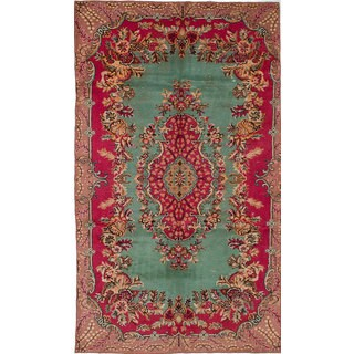 eCarpetGallery Hand-knotted Antalya Vintage Red Wool Rug (6'0 x 10'5)