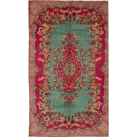 Hand-knotted Antalya Vintage Red Wool Rug