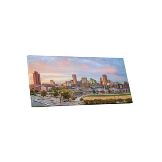 City Skylines 'Downtown Baltimore' Gallery Wrapped Canvas Wall Art