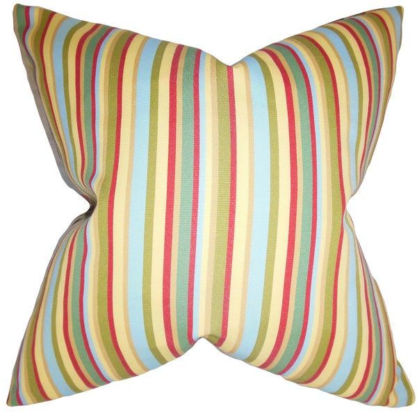 """Libby Stripes 22"""" x 22"""" Down Feather Throw Pillow Multi"""