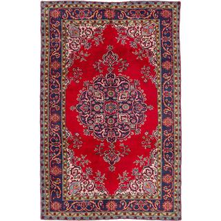 ecarpetgallery Hand-knotted Melis Vintage Red Wool Rug (5'11 x 9'5)