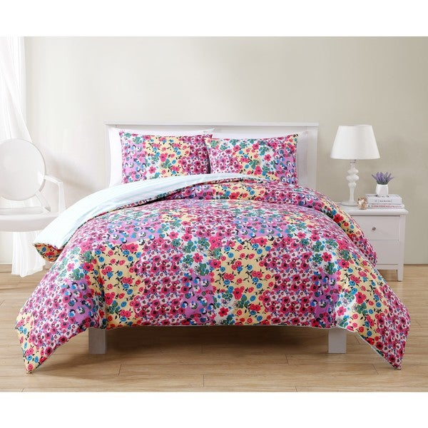 VCNY River Rose Reversible 3-piece Comforter Set