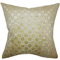 Kostya Geometric 22-inch Down Feather Throw Pillow Citrine