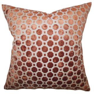 Kostya Geometric 22-inch Down Feather Throw Pillow Copper
