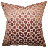 Kostya Geometric 22-inch Down Feather Throw Pillow Copper