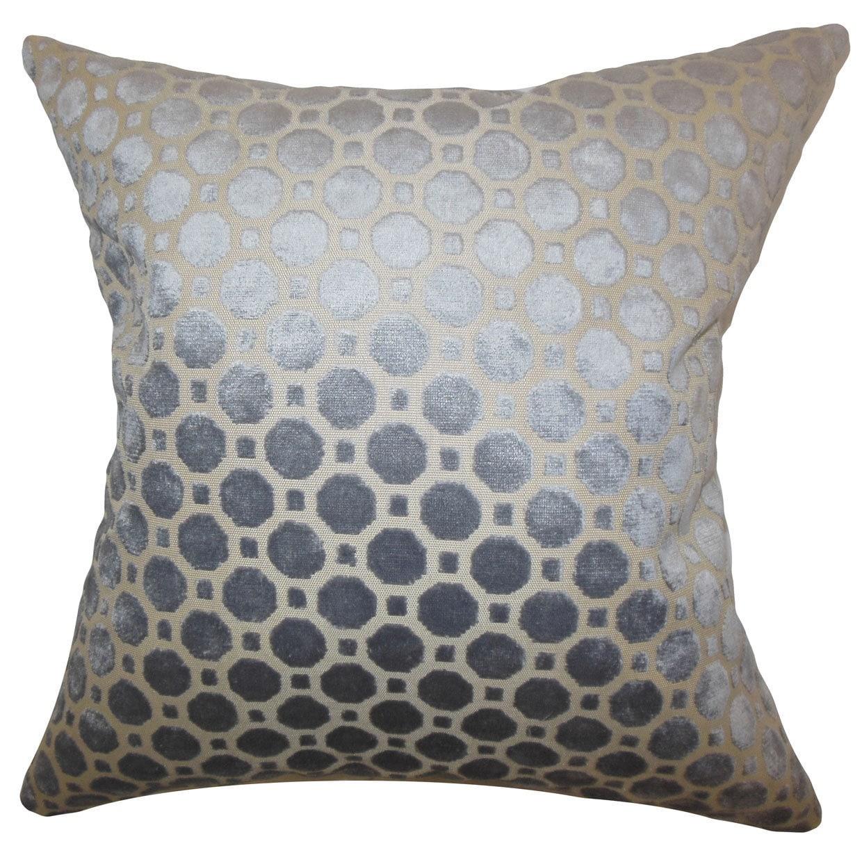 Kostya Geometric 22-inch Down Feather Throw Pillow Grey (22 x 22)