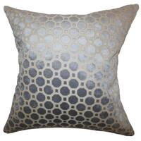 Kostya Geometric 22-inch Down Feather Throw Pillow Grey