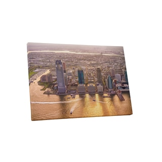 City Skylines 'New Jersey Skyline' Gallery-wrapped Canvas Wall Art