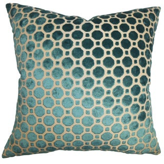 Kostya Geometric 22-inch Down Feather Throw Pillow Turquoise