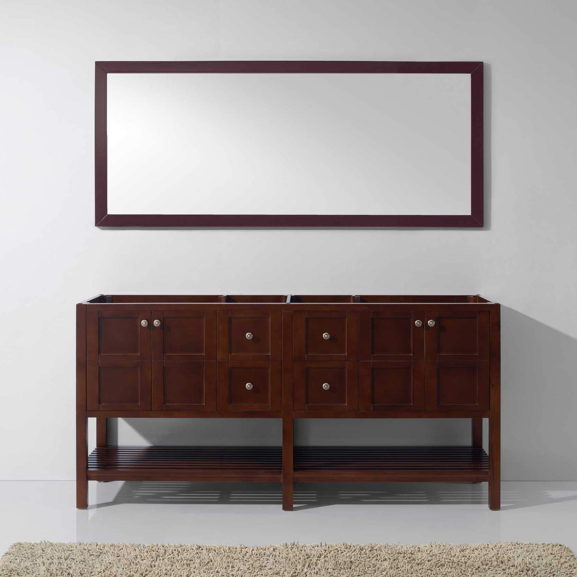 Winterfell 72-inch Double Bathroom Vanity Cabinet Only Color Option ...