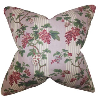Gehry Floral 22-inch Down Feather Throw Pillow Pink