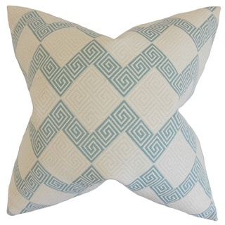 Sandrine Geometric 22-inch Down Feather Throw Pillow Teal