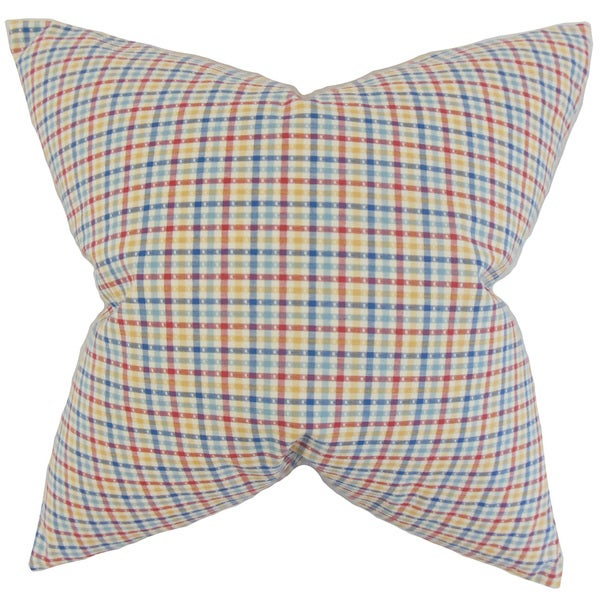 Hye Plaid 22-inch Down Feather Throw Pillow Multi