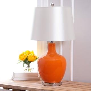 Abbyson Faremont Orange Glass Table Lamp