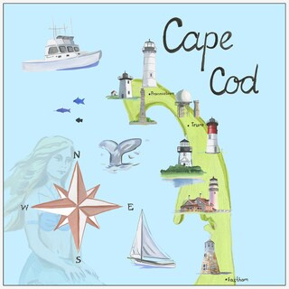 Marmont Hill - 'Cape Cod' Floater Framed Painting Print on Canvas