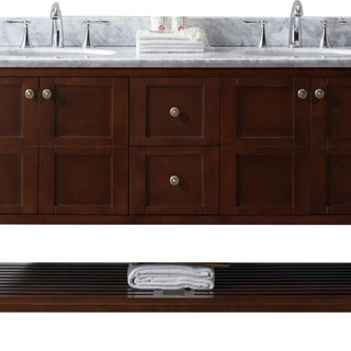 virtu usa winterfell 60inch round white marble double bathroom vanity set