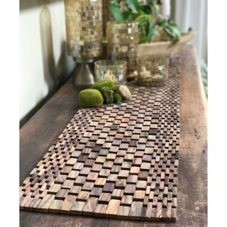 Rosewood Brown Cotton Table Runner