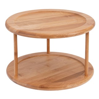 Sweet Home Collection Bamboo 2 Tier Lazy Susan