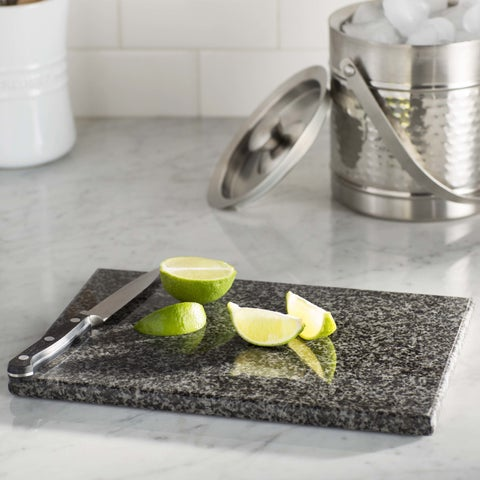 Sweet Home Collection Grey Granite 8x12 Cutting Board