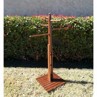 Cambridge Casual Mahogany Outdoor Towel Rack