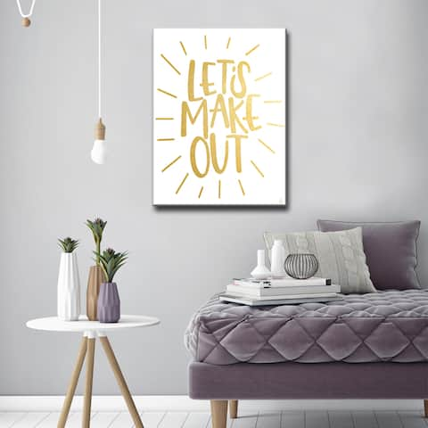 Ink Letter Love 'Lets Make Out' Textual Canvas Art