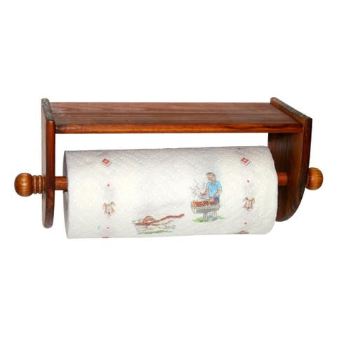 Wall Mount Pine Paper Towel Holder