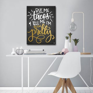 Ink Letter Love 'Buy Me Tacos' Textual Canvas Art