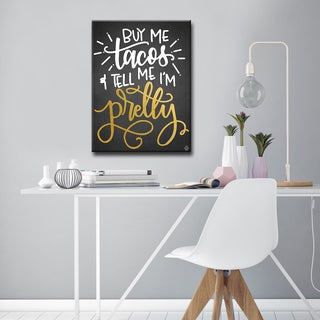 Ink Letter Love 'Buy Me Tacos' Ready2HangArt Canvas