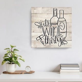 Ink Letter Love 'Wine Thirty' Ready2HangArt Canvas