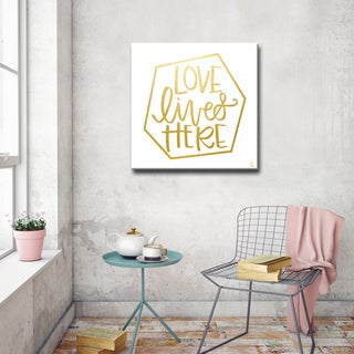 Ink Letter Love 'Love Lives Here' Ready2HangArt Canvas (4 options available)