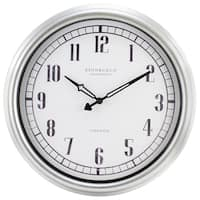 Equity by La Crosse 16-inch Indoor/Outdoor Silvertone Analog Wall Clock