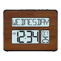 La Crosse Technology 513-1419BL-WA Backlight Atomic Full Calendar Digital Clock with Extra-large Digits
