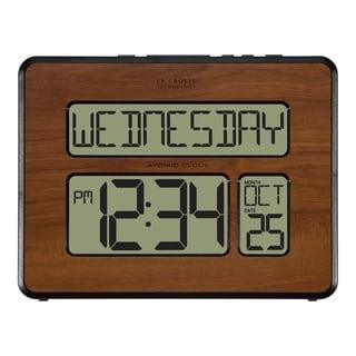 La Crosse Technology 513-1419-WA Atomic Full Calendar Digital Clock with Extra Large Digits