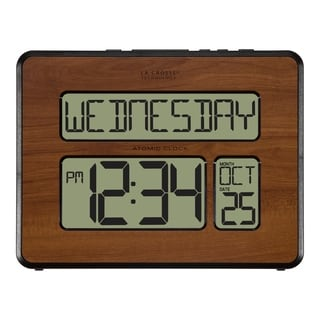 La Crosse Technology 513-1419-WA Atomic Full Calendar Digital Clock with Extra Large Digits