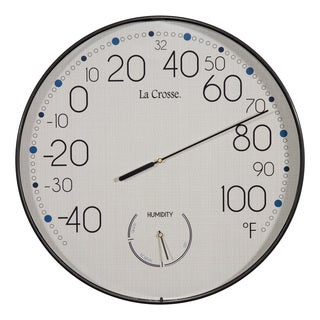 La Crosse 10-inch Round Indoor/Outdoor Wall Thermometer
