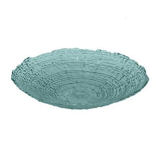 Benzara Teal Glass 18.25-inch Plate