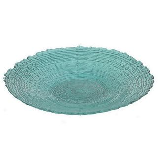 Benzara Teal Glass 12-inch Plate