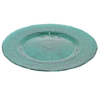 Benzara Teal Glass 13-inch Plate