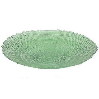 Benzara Green Glass 18.25-inch Plate