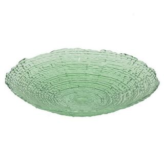 Benzara Green Glass 12-inch Serving Plate