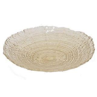 Benzara Beige Glass 12-inch Plate