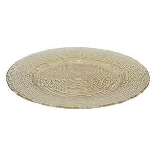 Benzara Beige Glass 13-inch Plate