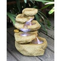 Zenvida 14-inch Tabletop Waterfall Fountain with LED Lights