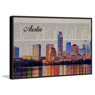 Marmont Hill - 'Austin in Print' Floater Framed Painting Print on Canvas