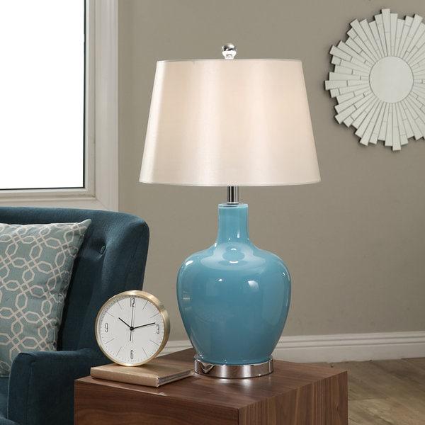 Abbyson Faremont Blue Glass 24-inch Table Lamp