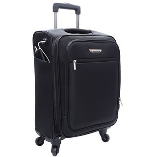 Travelers Club Sabre 20-inch Embedded USB Port Expandable Carry-On Spinner Suitcase