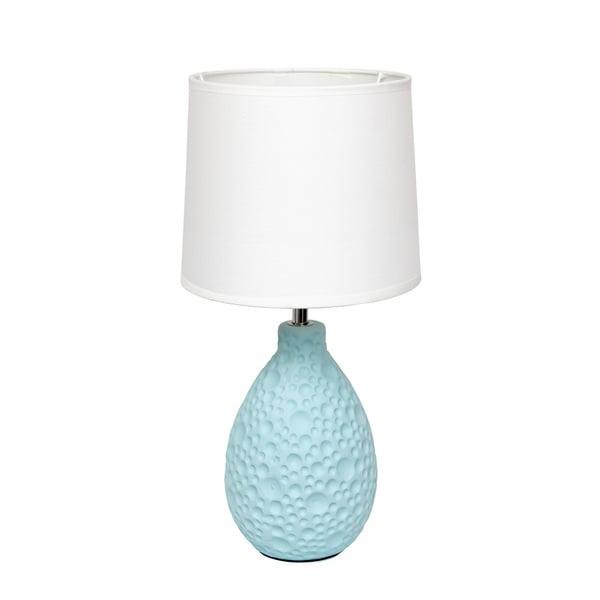 Simple Designs Blue Textured Ceramic Table Lamp